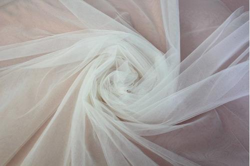 Tecido Tule Frances Branco Fosco 1 X 3 Metros Véu Noiva Ccb