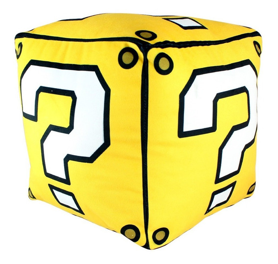 Almofada Cubo Bloco Interrogação Super Mario Bros Nintendo