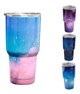 Termo Vaso Para Bebidas 30oz Galaxia Acero Inox Doble Pared