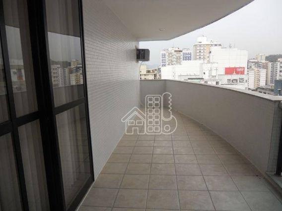Apartamento Com 4 Dormitórios À Venda, 165 M² Por R$ 1.580.000,00 - Icaraí - Niterói/rj - Ap0333