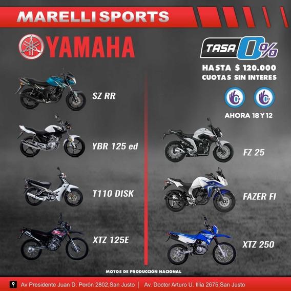 Yamaha Xtz 125 12 O 18 Cuotas Sin Interés, Marellisports 0km