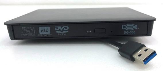 Gravador Dvd E Cd Externo Usb 3.0 Com Case - Dvd3.0