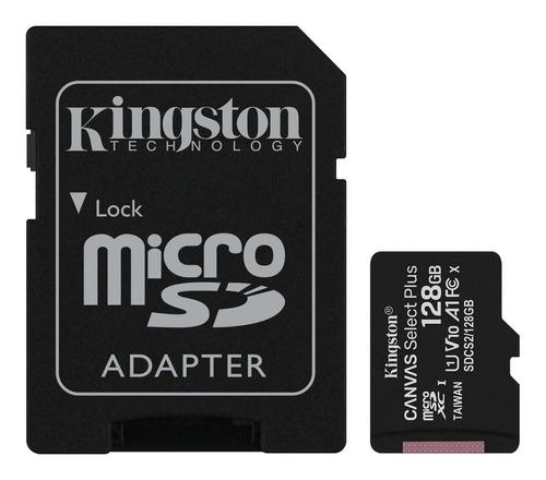 Imagen 1 de 3 de Memoria Micro Sd 128gb 100mb/s Clase 10 Kingston Adaptador