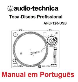 Manual Em Português Do Toca-discos At-lp120 Audio Technica