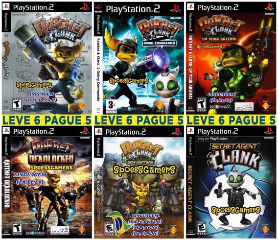 Ratchet & Clank Ps2 Coleção (6 Dvds) Patch - Leve 6 Pague 5