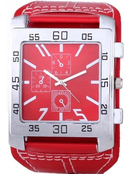Relogio Masculino Feminino Quadrado Bracelet Vermelho Ba1222