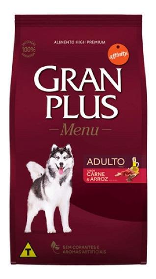 Ração Gran Plus Menu Cães Adultos Carne - 20kg