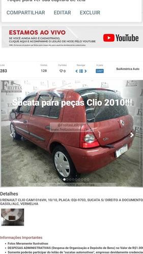 Sucata///peças////renault Clio 1.0 16v. Flex Completo