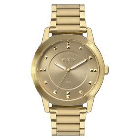 Relógio Euro Feminino Dourado Original Nfe Eu2039jp/4d