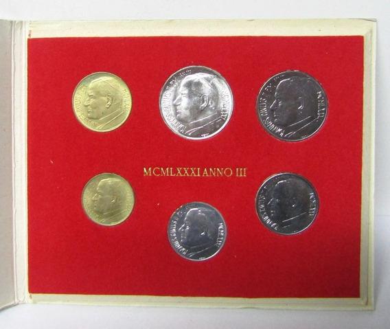 Vaticano Monedas Set De 6 Liras Año 1981 Juan Pablo Ii Unc