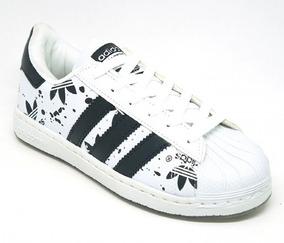Tênis Feminino adidas Superstar Branco E Preto Modelo101388