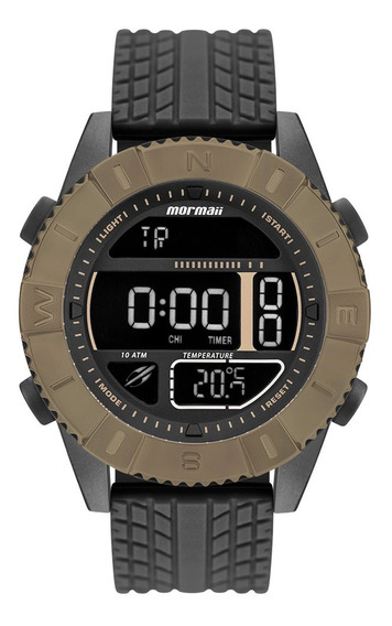Relógio Digital Mormaii Masculino Action Marrom Mo5334ad/8p