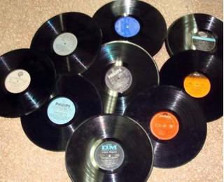 Lote De 100 Discos De Vinilos Para Decoración Diferentes Tam