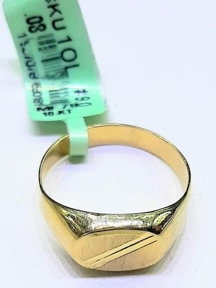 Anillo De Sello Caballero Diamantado Oro 10 K + Obsequio
