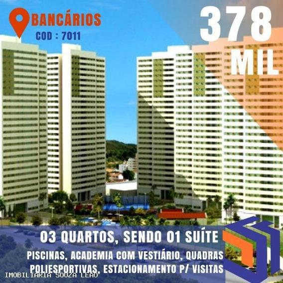 Apartamento Para Venda Em João Pessoa, Bancarios, 3 Dormitórios, 1 Suíte, 1 Banheiro, 2 Vagas - 7011