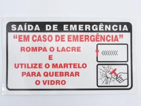 Aviso Transpar. Saída De Emergência P/ Vans E Micro Ônibus