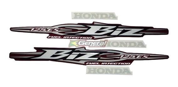 Kit Adesivo Jogo Faixas Moto Honda Biz 125 2009 Es Vermelha