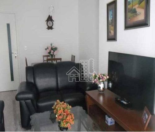 Apartamento Com 2 Dormitórios À Venda, 60 M² Por R$ 530.000,00 - Icaraí - Niterói/rj - Ap0039