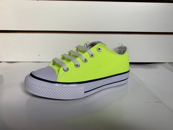 Zapatillas De Lona Fluo Mujer Roller