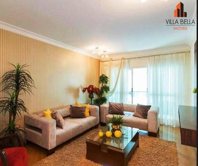 Apartamento Com 3 Dormitórios Para Alugar, 152 M² Por R$ 2.400/mês - Jardim - Santo André/sp - Ap4592