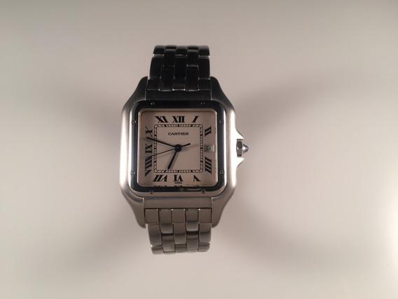 Reloj Cartier Panther Ref 1300 De Acero Large Size.