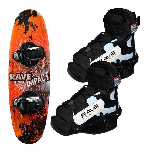 Tabla De Wakeboard Para Niños Rave Made In Usa Con Botas Mercado Libre