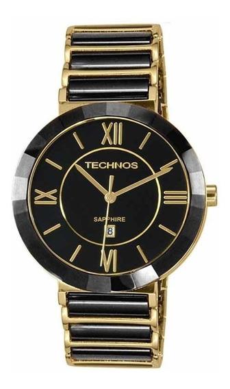 Relógio Technos Feminino 2015bv/4p Dourado/preto