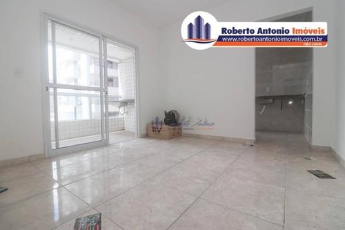 Apartamento Com 2 Dormitórios À Venda, 60 M² Por R$ 300.000,00 - Canto Do Forte - Praia Grande/sp - Ap1318