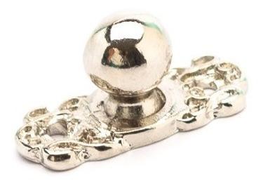 Pezinho Metal Artesanato Bolinha 8 Peças