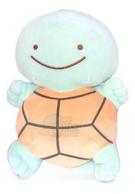 Pelúcia Squirtle Ditto - Pokémon - Dupla-face 28cm