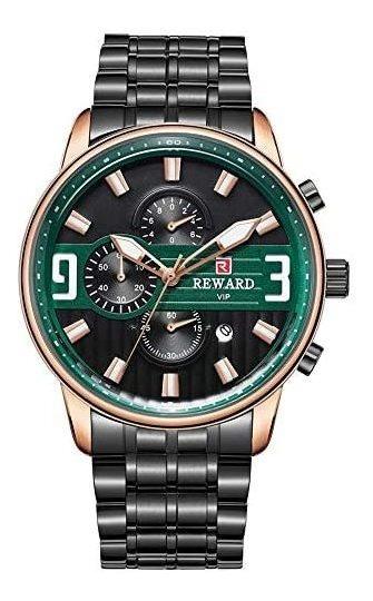Reloj Reward Vip Para Hombre Elegante Green