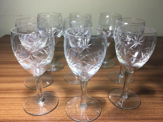 Copas Antiguas De Cristal Talladas ( Varias Medidas )