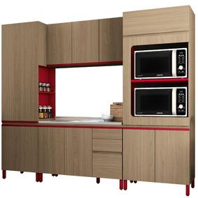 Cozinha Completa Kappesberg Mdp 10 Portas 3 Gavetas 4 Peças