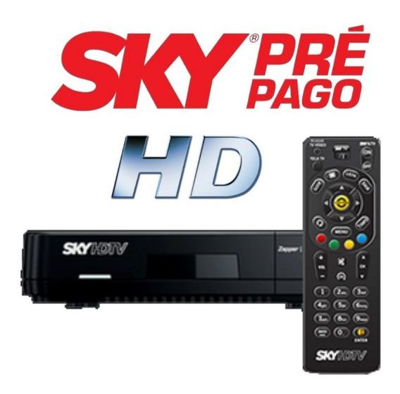 Sky Prépago Hd Rec 12 Meses Digitais 49 Canais Sh20 +recarga