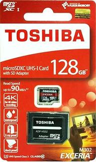 Tarjeta De Memoria Micro Sd Microsd 10 Toshiba De 128 Gb 128