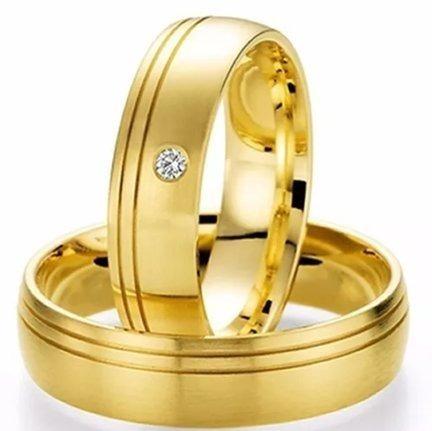 Aliança De Ouro 18k 5mm