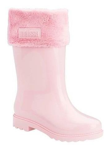 Bota Melissa Mel Winter Boot Preto Glitter Infantil 32587
