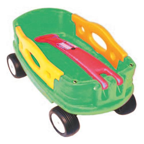 Carro Americano Verde Con Manija Roja Rotoys Original