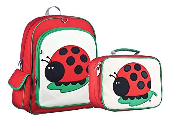 Kit Set Mochila Lonchera Beatrix Niño Escuela Niña Catarina