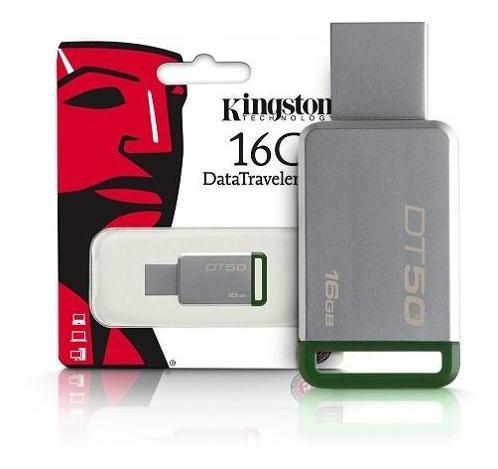 Pen Drive Kingston Datatraveler 16gb Dt50/16gb - Verde + Nf