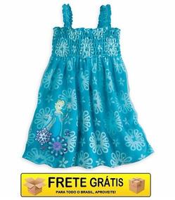 Vestido Saida De Praia Piscina Frozen Disney Store 9/10 Anos