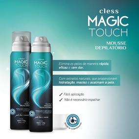Kit 3 Mousse Creme Depilatório Magic Touch Cless