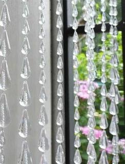 Cortina De Miçanga Gota De Chuva Modelo Cristal Promoção