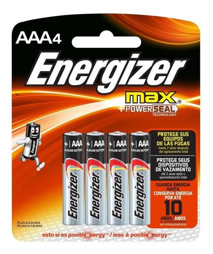 Pilas Energizer Aaa X 4 Unidades Original Envio Gratis
