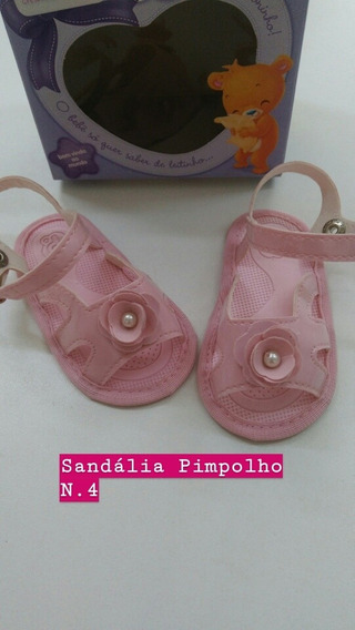 Sapatinho Bebe Sandália Infantil Feminina Menina Rosa
