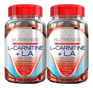 2x Emagrecedor L-carnitine + Óleo De Cártamo