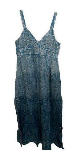 Vestido Longo Feminino Alça Indiano Boho Tie Dye 907