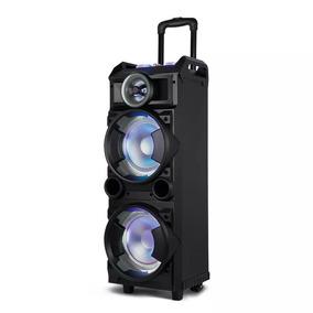 Caixa De Som Torre Double 8 Bluetooth Fm/usb/sd/aux Led 300w