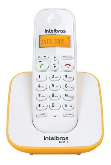 Telefone S/ Fio Intelbras Luminoso Dect 6.0 Ts 3110 Bco/amar