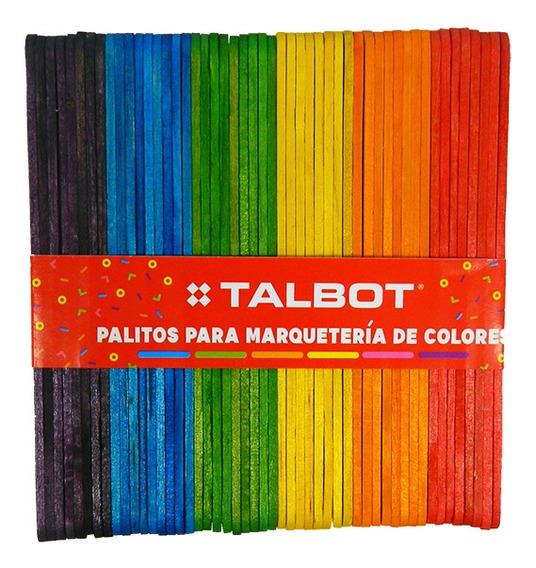 Palitos De Helados Talbot Colores Surtidos X 50